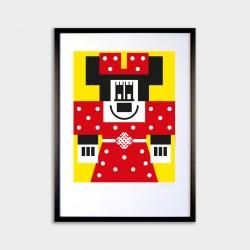 Belobog Minnie - číslovaná...